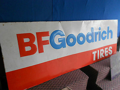 Vintage BF GOODRICH TIRE Sign Gas OiL Station Metal sign 1985