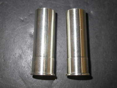 TWO 5 oz. 999 SOLID SILVER 12 GA SHOTGUN SHELL in BULLET CASE - SILVER IS RISING