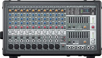 BEHRINGER EUROPOWER PMP2000 800W POWERED 14 CHANNEL PA MIXER  w/FX