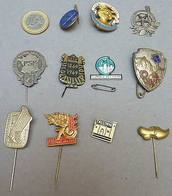 Lot 11 badge pin épingle Dont Club Alpin Français PSF Bruxelles pin