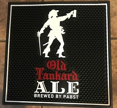 OLD TANKARD ALE BREWED BY PABST  Beer-PBR-Rubber Bar Mat- Barware