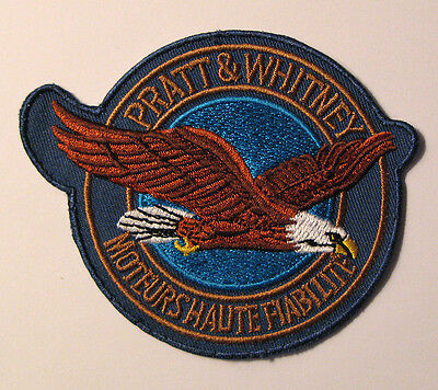 """Pratt & Whitney Aircraft  3 1/2"""" X 3"""" Embroidered Patch-Collectors Aviation Item"""