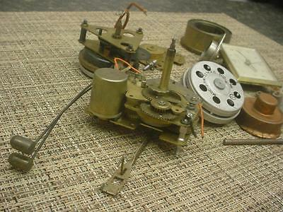 Clockmaker Lot of Alarm / Cuckoo Brass Movements Parts Gears Capsules E954