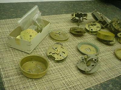 Clockmaker Lot of Alarm / Cuckoo Brass Movements Parts Gears SteamPunk E910