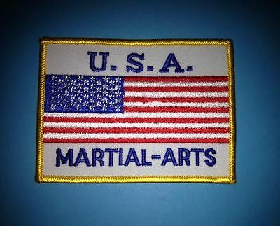 Rare 1980's USA Martial Arts Sew On Jacket Backpack Gi Uniform Patch Crest 366