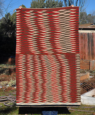 Great Old Red Mesa Dazzler Navajo Indian Rug - Extra Large Double Saddle Blanket