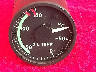 """The Lewis Eng 2"""" Oil Temperature Electrical Resistance Indicator P/n 162C7A"""