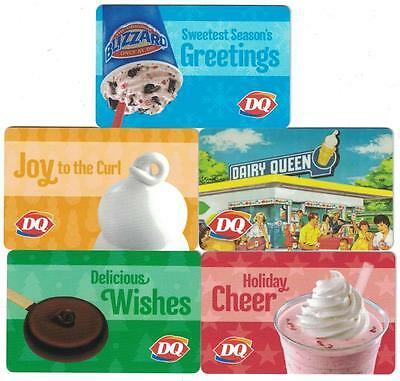 DAIRY QUEEN 2016 DIFFERENT Gift Cards ( 5 )