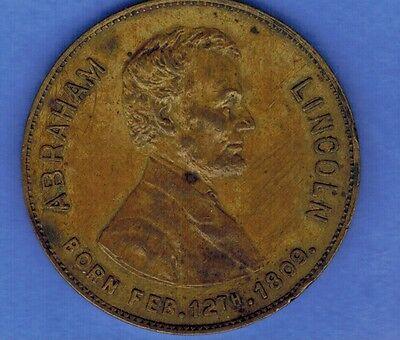 1909 Abraham Lincoln Centennial Medal Boston Sunday American Newspaper