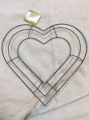 13 heart shaped metal wreath frame diy macrame floral crafts wire form deco