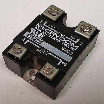 Crydom D1225 Solid State Relay, Zero-Switching; SPST-NO, 24-140 Vac, 25 A