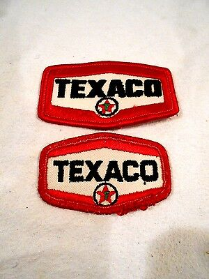 """2-Texaco Motor Oil Gas Embroidered/Iron On Patches-Racing Jacket-Uniform 3""""/2.5"""""""