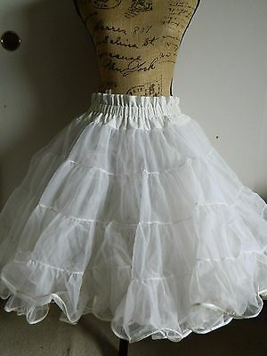 PARTNERS PLEASE Square Dance White Petticoat Crinoline Rockabilly Large