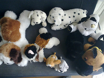 lot de peluches chiens