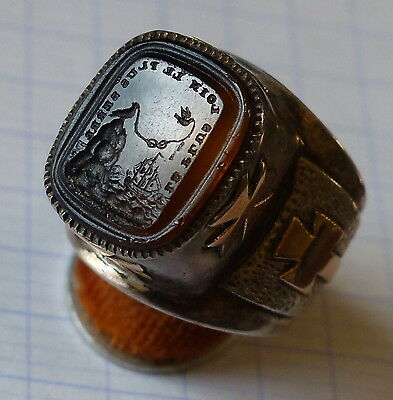 bague homme intaille