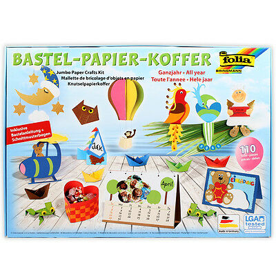 Papier Crafting Set FOLIA Construction paper Photo cardboard Tone Craft kit m