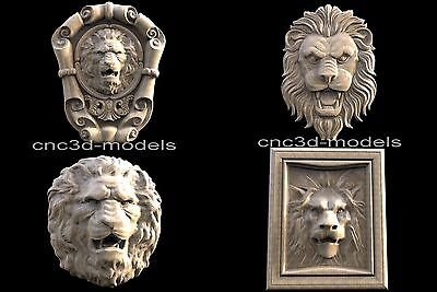 3D STL Models for CNC Router Engraver Carving Artcam Aspire Lion 205