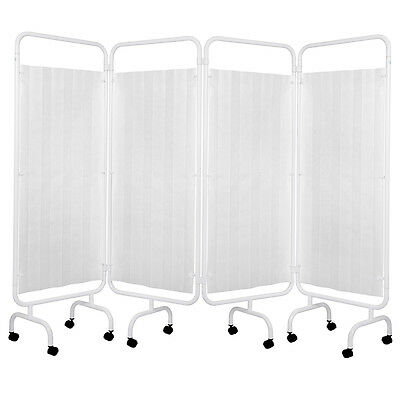 Viva Medi 4 Panel Medical Privacy Screen with Disposable Curtain