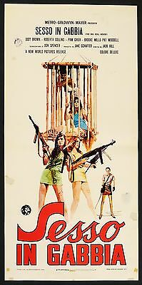 LOCANDINA, SESSO IN GABBIA The Big Doll House PAM GRIER, EXPLOITATION, POSTER