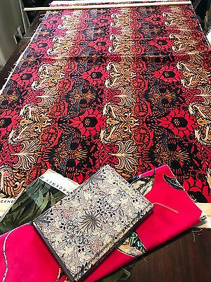House Of Hackney Fabric - William Morris Peacock & Dragon Velvet 85cm