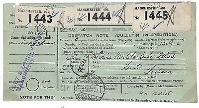 Q118 1925 Manchester. GPO forms