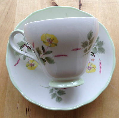 Vintage ADDERLEY BONE CHINA Cup and Saucer 1312 Pattern - England