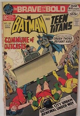 Brave and the bold 102,  DC 1972, Fine, Batman, Teen Titans