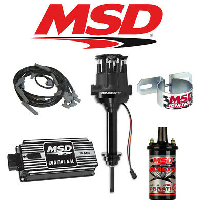 msd ignition complete kit digital 6al distributor wires coil msd black ignition kit digital 6al distributor wires coil chrysler 413