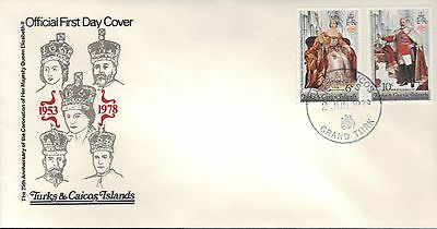 Turks & Caicos First Day Cover 1978 British Monarchs