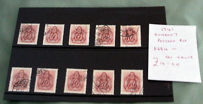 Hungary Postage Due Stamps, Fine Used, Stated To Catalogue £10.
