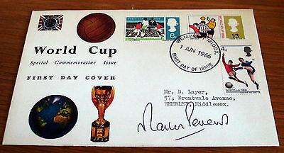 1966 World Cup First Day Cover Signed By Martin Peters, Wembley Postmark.
