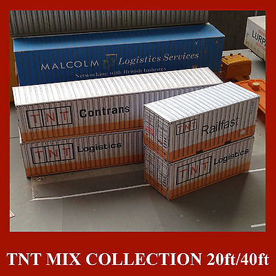 TNT Collection P/W Card Kits OO Scale Model Shipping Containers  x 6 BEST DEAL