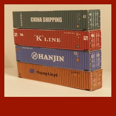 Model Rail Shipping Container Card Kits OO Scale 1:76 x12 Mixed 20ft 40ft 45ft