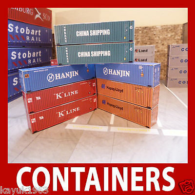 Shipping Containers Model Card Kits Z or N Gauge/Scale Best Buy Mixed Set x 12