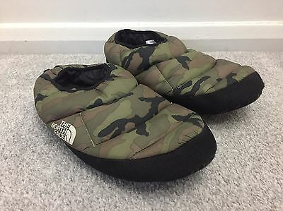 The North Face Slippers Camouflage Green  Men's Medium 7-8.5