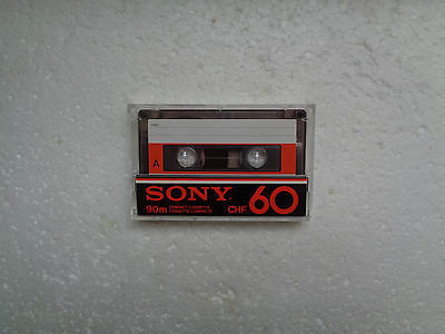 Vintage Audio Cassette SONY CHF 60 From 1978 - Fantastic Condition !!