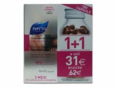 Phyto Phytophanere Integratore Cura Capelli Unghie  1+1 180 90 + 90 Capsule