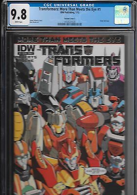 Transformers More Than Meets The Eye 1 Silver Foil E Variant CGC 9.8 MTMTE RARE