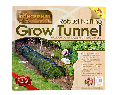 Net Covered Grow Tunnel - 3M Long - Protect Plants From Insects Birds & Pests