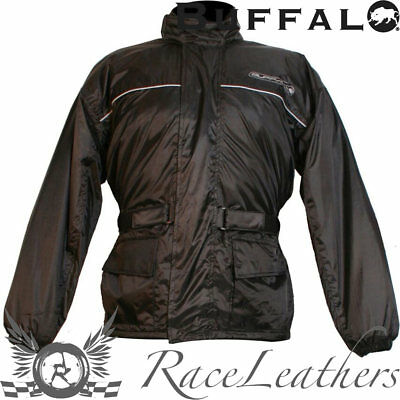 Buffalo Black Sabre Waterproof Motorcycle Motorbike Cycling Walking Over Jacket