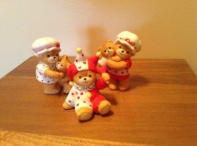 3 1980 & 1984 Lucy and Me Lucy Rigg Enesco teddy Bear figurines