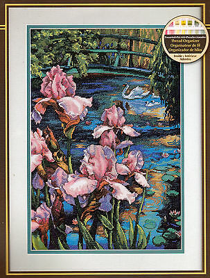 Iris And Swan Counted Cross Stitch Kit Dimensions Gold Collection Gorgeous!