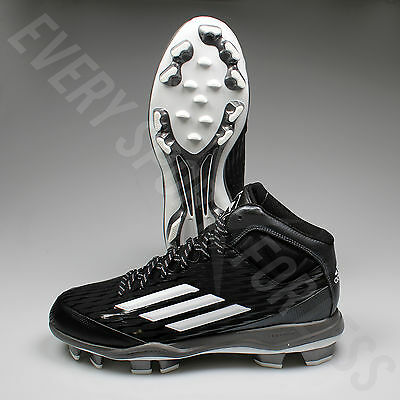 Adidas Power Alley 3 TPU Mid Baseball Cleats S84714-Blk/Wht/Grey(NEW)LISTS @ $65