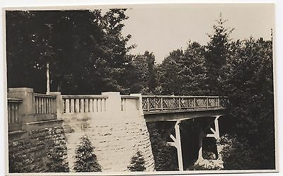 Real Photo Postcard Road Foot Bridge Unknown Location Where ?
