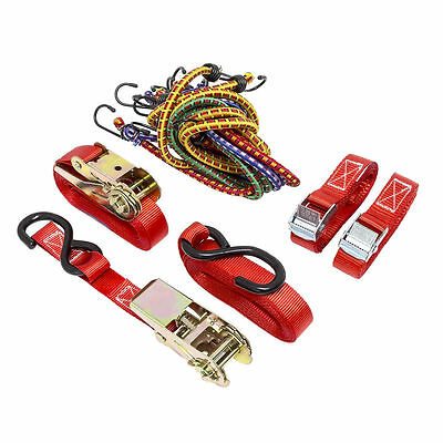 Load Restraint Kit 13 Pieces With Lashing Straps And Elastic Cords Load Safety