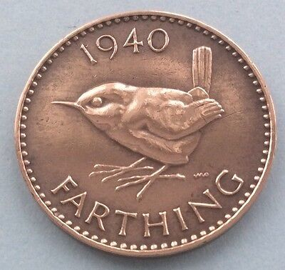 1940 King George Vi Farthing (Quarter Of A Penny) Coin