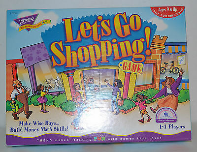 Lets Go Shopping  Board Game - By Trend Enterprises - Money And Math Skills