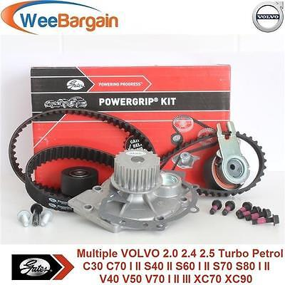 VOLVO 2.0 2.3 2.4 2.5 T T5 Petrol GATES KP45509XS Timing Belt Kit and Water Pump