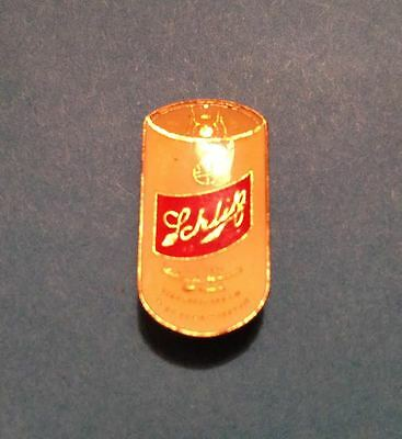 Rare Vintage 1980's Schlitz Beer Can  Breweriana Jacket Hat Lapel Pin 013
