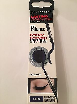 Maybelline Eyestudio Lasting 24hr Drama  Gel Eyeliner - 03 Blue